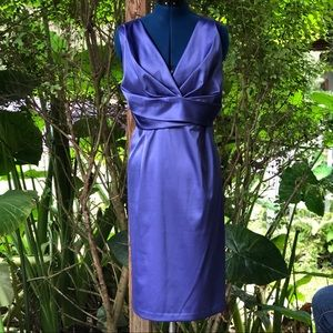 Donna Ricco   Royal Blue Satin Formal Dress